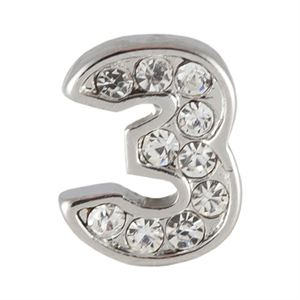 Picture of Silver Number Three Charm